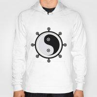 yin yang Hoodies featuring Yin yang by Nir P
