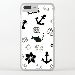 Simply Summer Clear iPhone Case