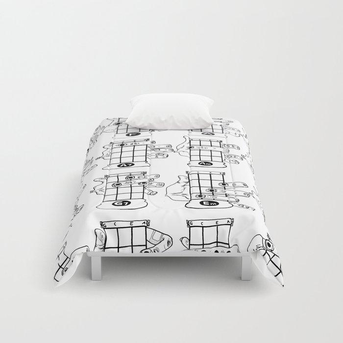 k.w.ink Ukulele Chords Chart: 16 Basic Ukulele Chords Comforters by ...
