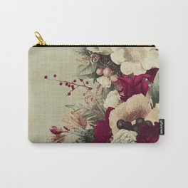 Vintage Flora 3 Carry-All Pouch