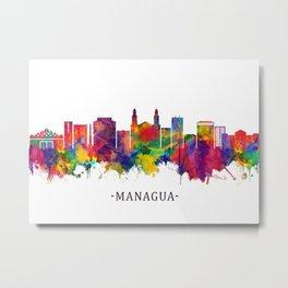Managua Nicaragua Skyline Metal Print