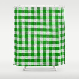 Islamic Green Buffalo Plaid Shower Curtain