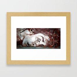 Psycho - Bathroom Floor Framed Art Print