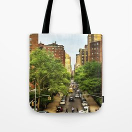 10th Ave and W 26th St New York City Tote Bag