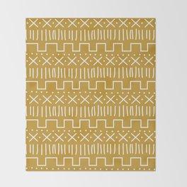 Mustard Mud Cloth Throw Blanket