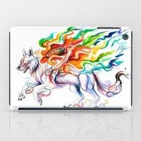 okami iPad Cases featuring Okami Wolf by Katy Lipscomb