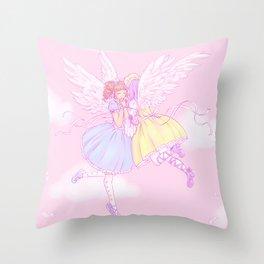 Sweet lolita angels Throw Pillow