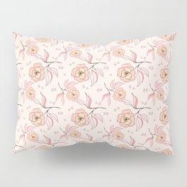 Pink Peony Kiss Floral Pattern Pillow Sham