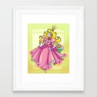 princess peach Framed Art Prints featuring Princess Peach by Chicken