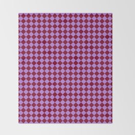 Lavender Violet and Burgundy Red Diamonds Throw Blanket