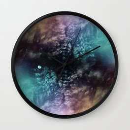Polychrome Moon Wall Clock