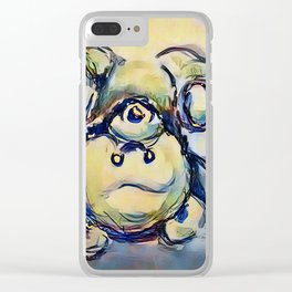Tumbling Teddy Bear by CheyAnne Sexton Clear iPhone Case