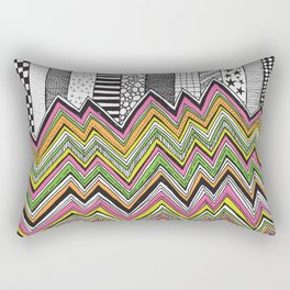 Stripes and Zig Zags Rectangular Pillow
