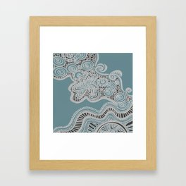 Just a Squiggle Here and There Framed Art Print
