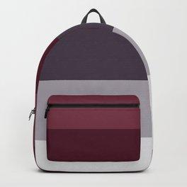 scandinavian moody winter fashion dark red plum burgundy grey stripe Backpack