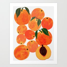 Peach Harvest Art Print
