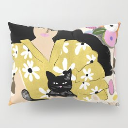 Life with cats Pillow Sham