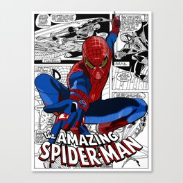 Spider-Man Comic Canvas Print