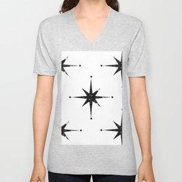 black 8 point stars Unisex V-Neck