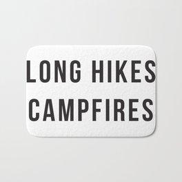 Cabins Long Hikes Campfires Smores Bath Mat