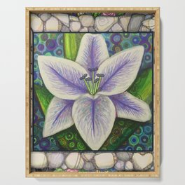 Stargazer Lily in the Lilac Verse Serving Tray
