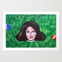 heathers Art Prints featuring Heathers by Portraits on the Periphery