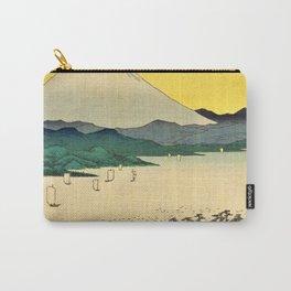 12,000pixel-500dpi - Utagawa Hiroshige - 36 Views of Mt.Fuji - Suruga Mihonomatsubara Carry-All Pouch