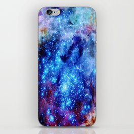 galaxy blue sparkle iPhone Skin