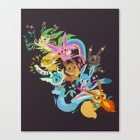 eevee Canvas Prints featuring Eevee Band by tinysnails