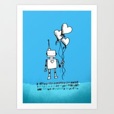 A romantic gesture Art Print