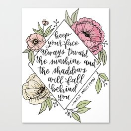 Sunshine and Whitman Canvas Print