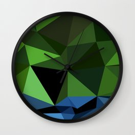 Polygon Heroes - Hulk Wall Clock