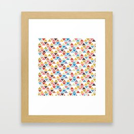Triangle love Framed Art Print