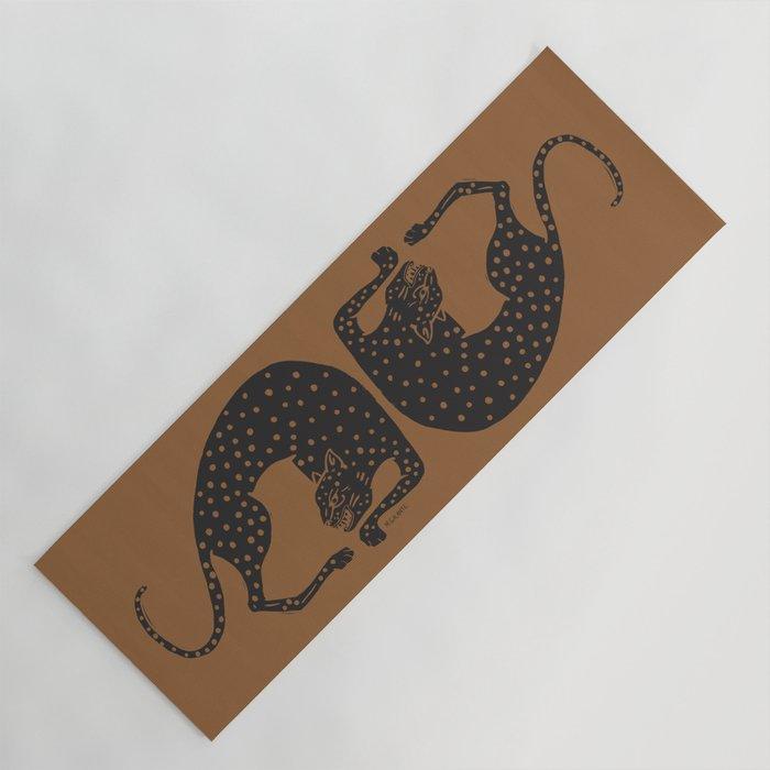 Blockprint Cheetah Yoga Mat