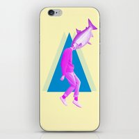 miles davis iPhone & iPod Skins featuring A perfect day for bananafish by Laura Nadeszhda