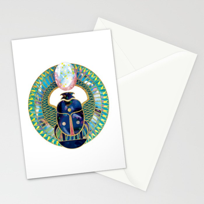 Egyptian Scarab Stationery Cards