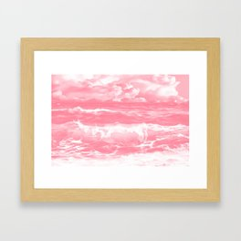 stormy sea waves reacpw Framed Art Print