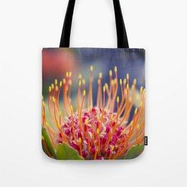 Tropical Sunburst - Leucospermum Pincushion Protea Flower Tote Bag