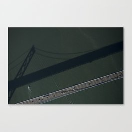 ARCH ABSTRACT 21: West Span of the Bay Bridge, San Francisco #3 Canvas Print