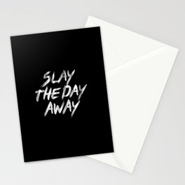 Slay The Day Away Dirty Vintage Brush Typography Stationery Cards