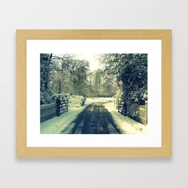 More Than Covered in Snow Framed Art Print