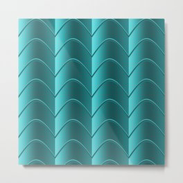 Teal Gradient Metal Print