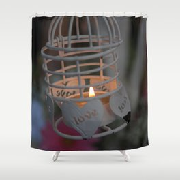 Love candle light Shower Curtain