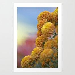 Autumn Botanical -- Golden PomPoms Art Print