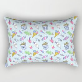 Cute candy and ice-cream pattern Rectangular Pillow