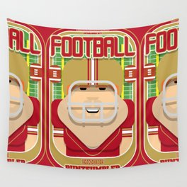American Football Red and Gold - Enzone Puntfumbler - Josh version Wall Tapestry
