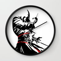 assassins creed Wall Clocks featuring Assassins Creed  by iankingart