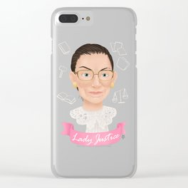 Lady Justice Clear iPhone Case