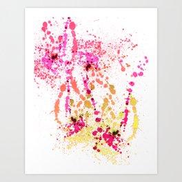 Uplifting Heat - Abstract Splatter Style Art Print
