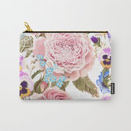 Spring flowers with mandalas Carry-All Pouch